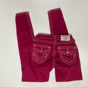True Religion red skinny jeans sz 25